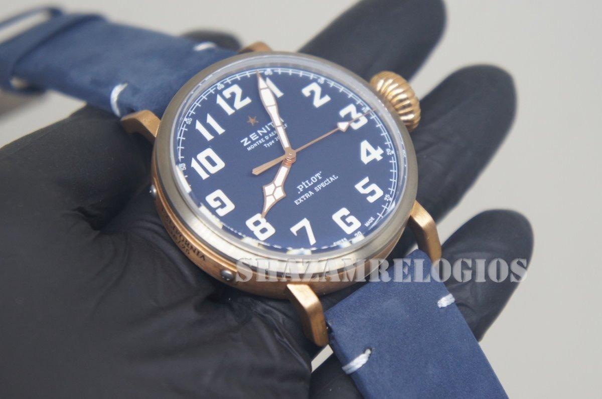 8ec78e980de relogio zenith pilot cobre titanium azul eta. Carregando zoom.