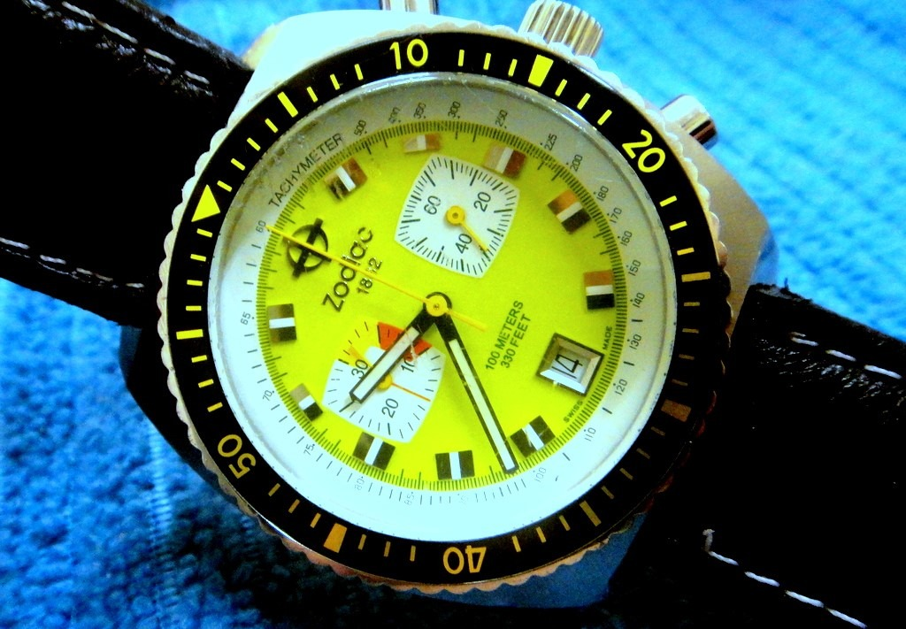 87d3e2d264a relógio zodiac chronograph seadragon verde pistache. Carregando zoom.