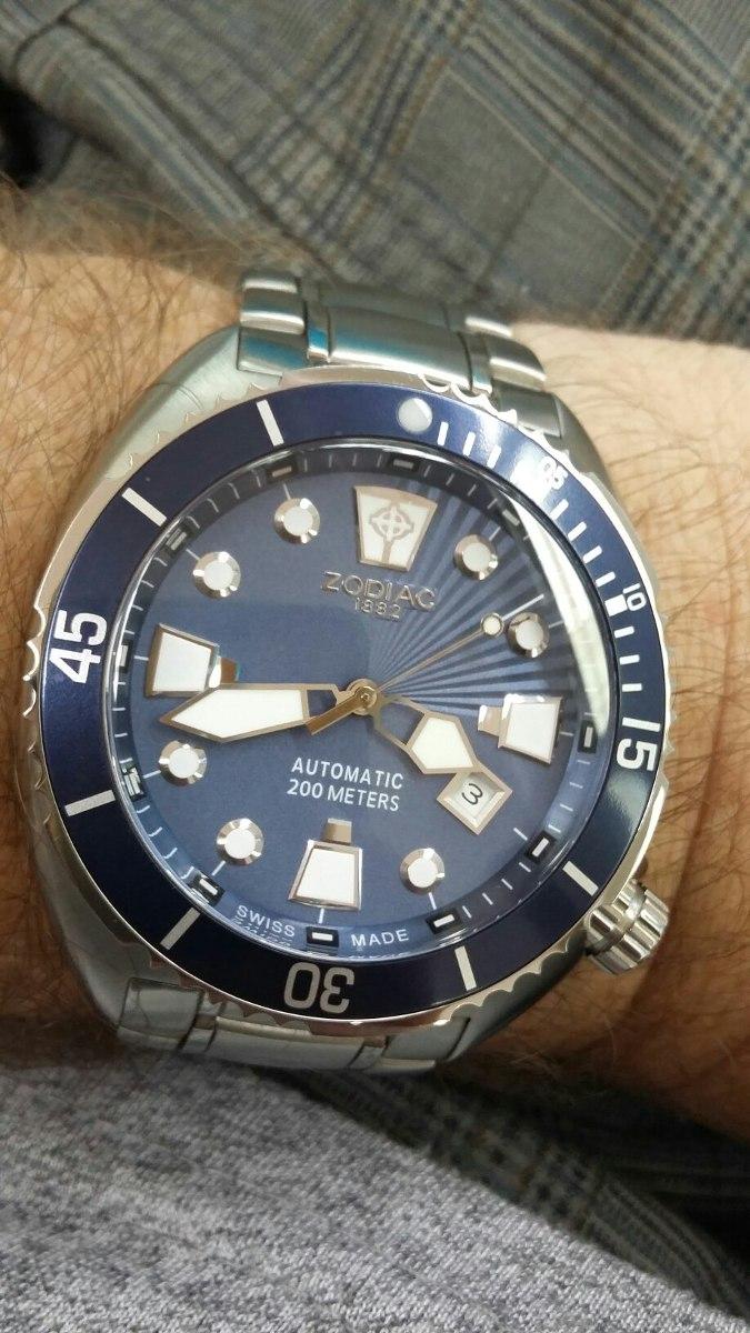 7e029f8e5dc relógio zodiac - oceanaire - automático - swiss made. Carregando zoom.