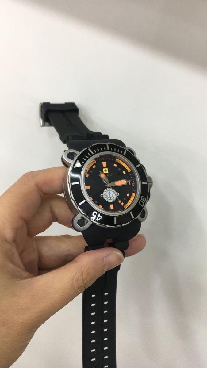 862858fa4d0 relógio zodiac oceanaire prata pulseira cinza borracha. Carregando zoom.