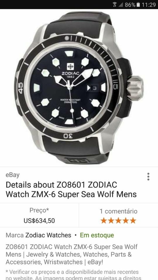 9147268f040 relógio zodiac zo8601 zmx06. Carregando zoom.