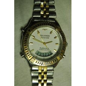 016a9c05eeb Technos Skydiver Serie Ouro Relogio - Relógios no Mercado Livre Brasil