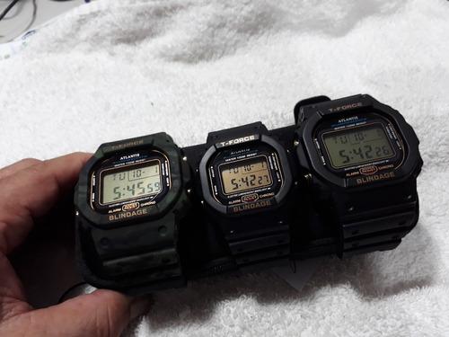 relógios atlantis g shock - (kit com 3) !