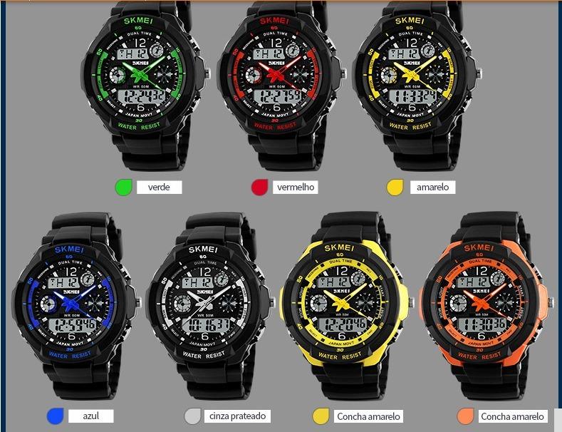 00056493107 Relógios Baratos Importados Masculinos Pulso Digital - R  54