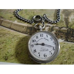 717625a64e1d3 Relógio De Bolso Locomotiva Trem Ferrovia Cronometro Simplon. R  1.299