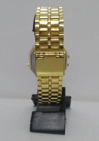 relógios casio unissex digital vintage prata dourado rosê