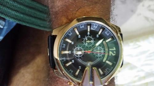 relógios currem couro genuíno