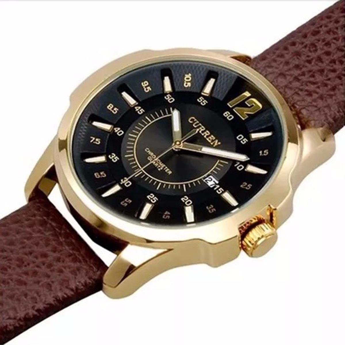 9983691c223 relógios curren masculino barato pulseira de couro luxo. Carregando zoom.