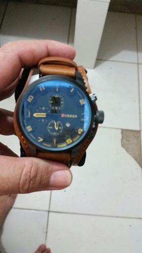 relógios curren social couro