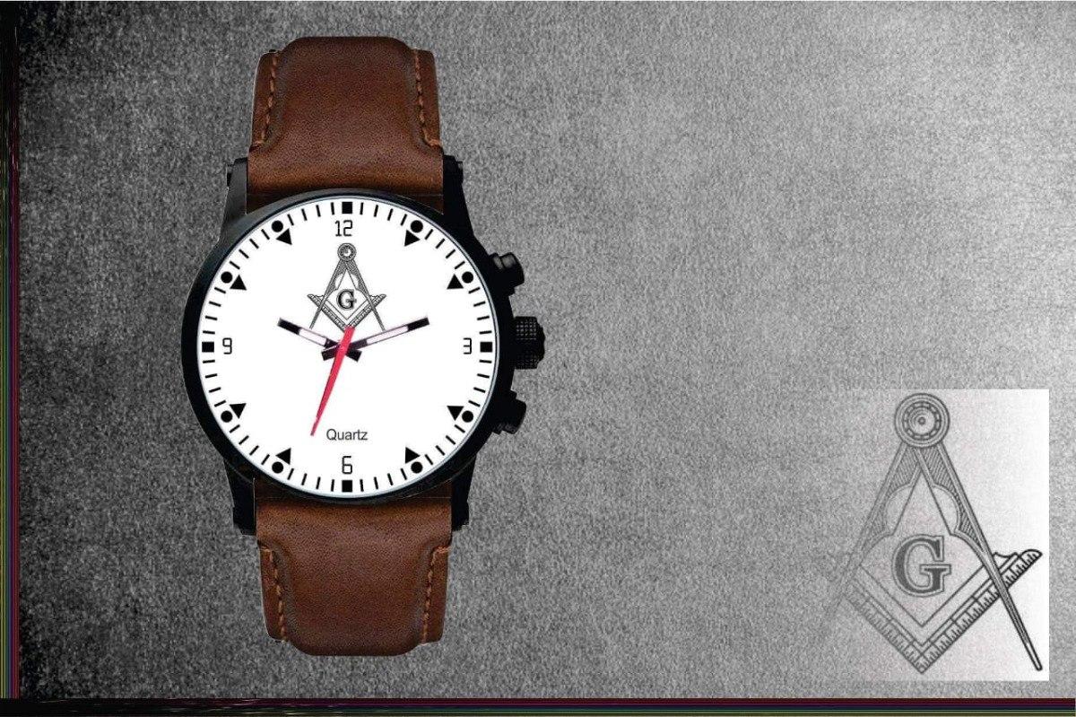 1f957d49e55 Relógios De Pulso Personalizados Maçom Maçonaria M102 - R  84