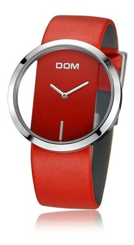 relógios de quartzo impermeável pulseira de couro genuíno