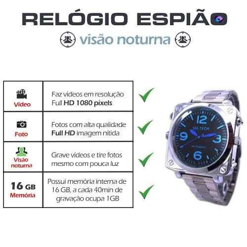 f557c5e2e6c Relogios Diferentes De Pulso Camera Discretas Comprar Mini - R  399 ...
