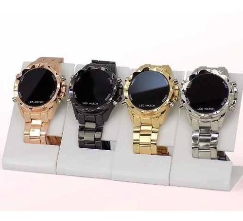 relógios digital-led redondo c/10 unissex atacado revenda