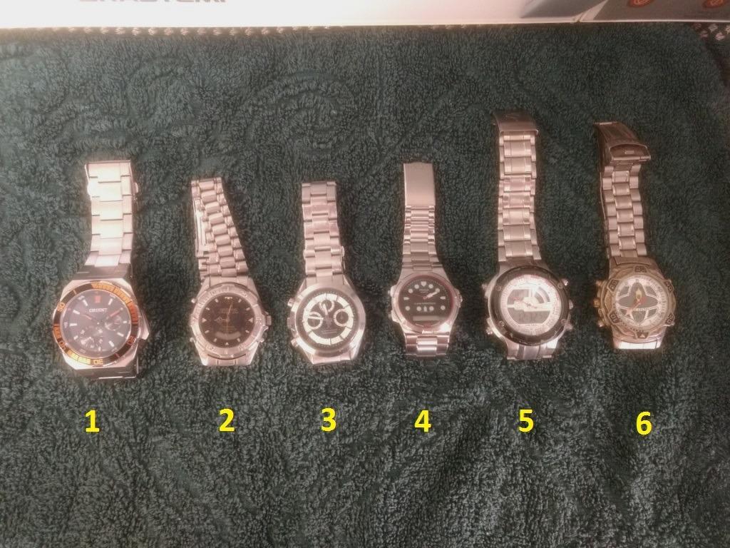 f5cd7e48017 Relógios Diversos - 06 Unidades - Ótimo Negócio. - R  550
