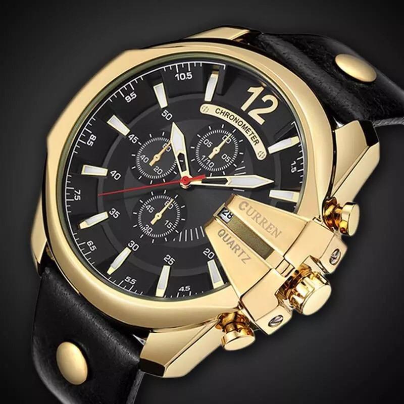 f36f64f2000 relógios dourado curren original quartz top marca de luxo. Carregando zoom.