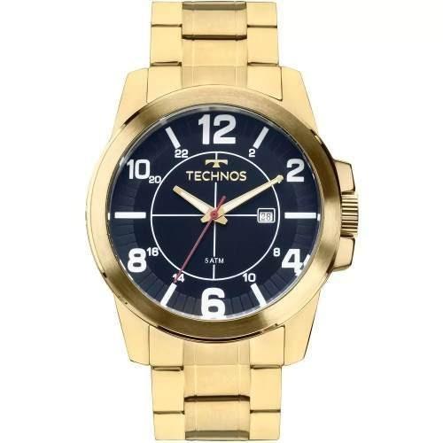46965a10b83 Relógios Dourados Masculinos Technos Aço Inox 2115mgs C  Nf - R  336 ...