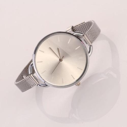 relógios feminino analógico aço inoxidável atacado