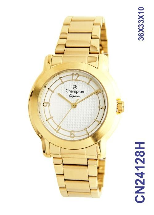 2779baf4bb4 Relogios Atacado Feminino Champion Dourado Cn24128h - R  129