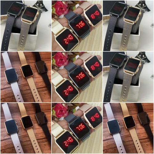 relógios feminino digital-led c/10  + caixas