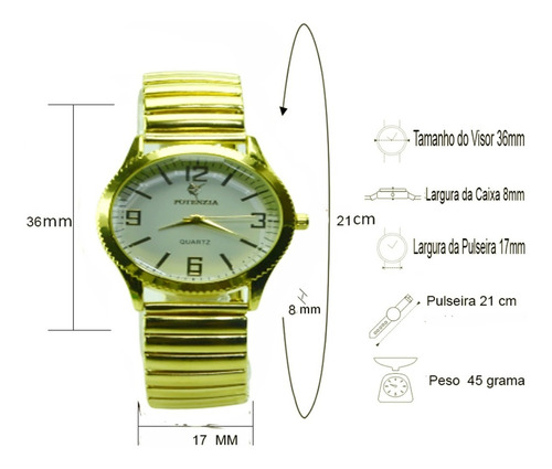 relógios feminino  dourado  pulseira elástica lindo barato.