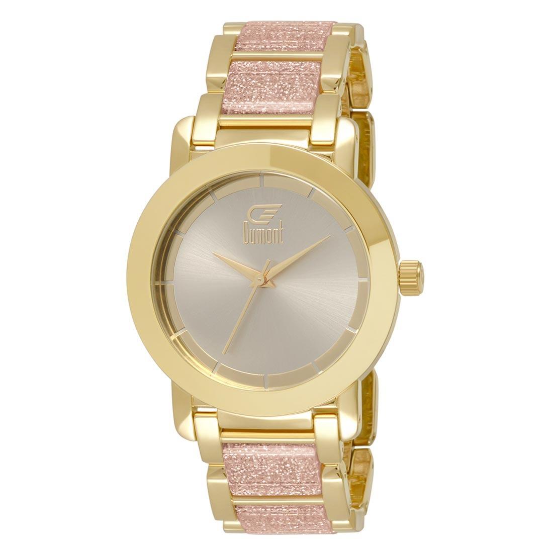 ad05d1b4069 Relógios Feminino Dumont Analogico - Du2035lst 5q - R  130