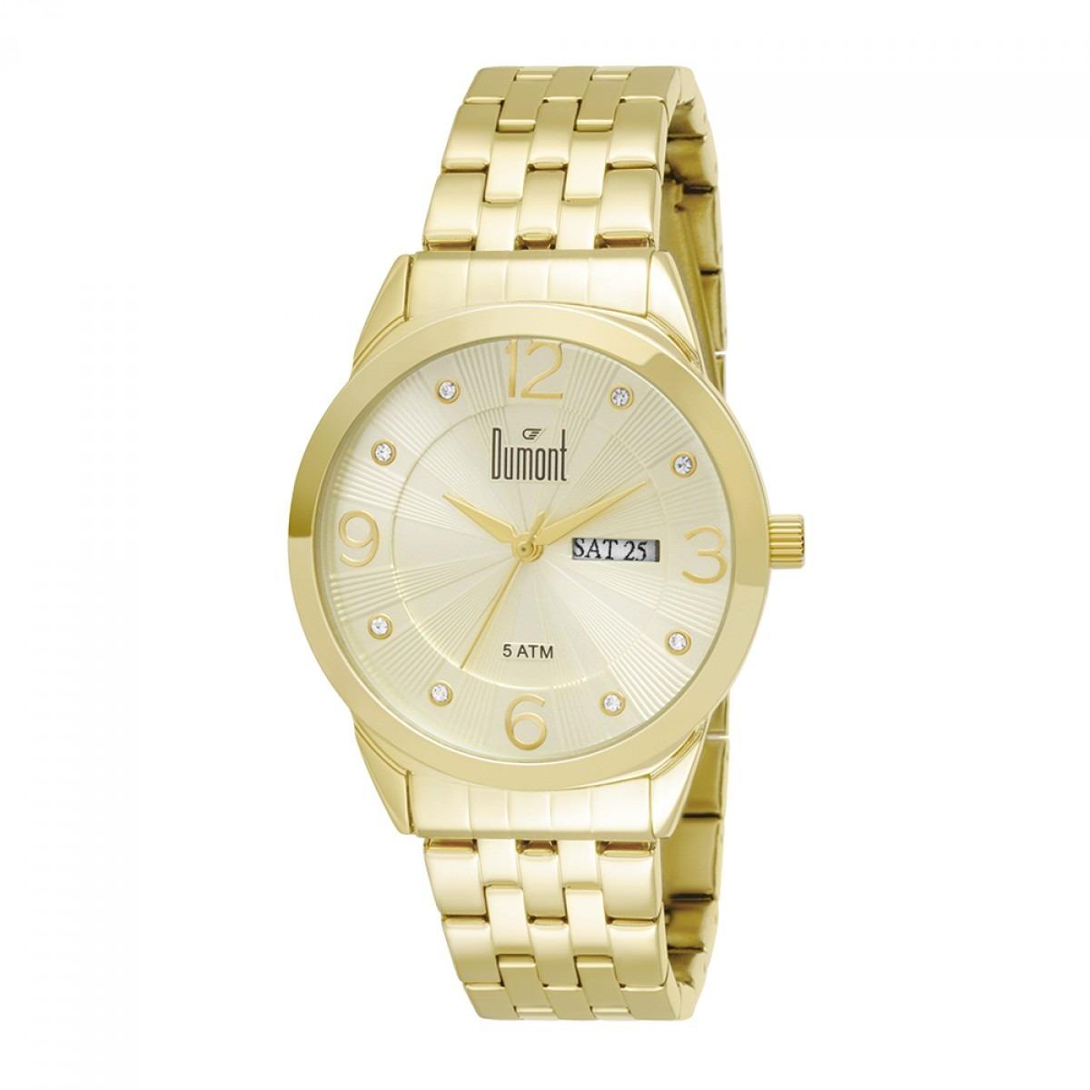 Relógios Feminino Analógico Dourado Dumont - R  289,00 em Mercado Livre 148dfb2c07