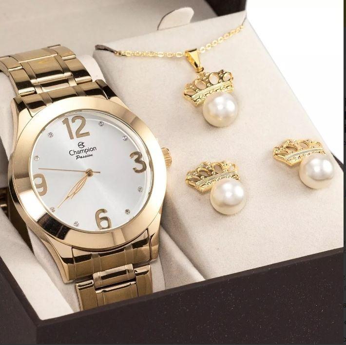 728af9ae9 Relógios Femininos Champion Dourado + Brinde - R$ 249,90 em Mercado Livre