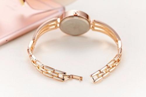 relógios femininos delicados luxo aço inoxidável elegante