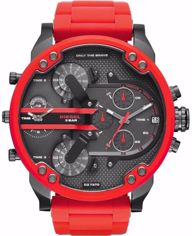 1a9d2bae2f9 Relógios Gh84 Diesel Dz7370 Mr. Daddy Vermelho Caixa+manual - R  513 ...