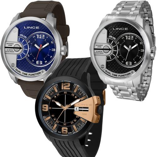 relógios lince masculino esportivo grande prova d'água