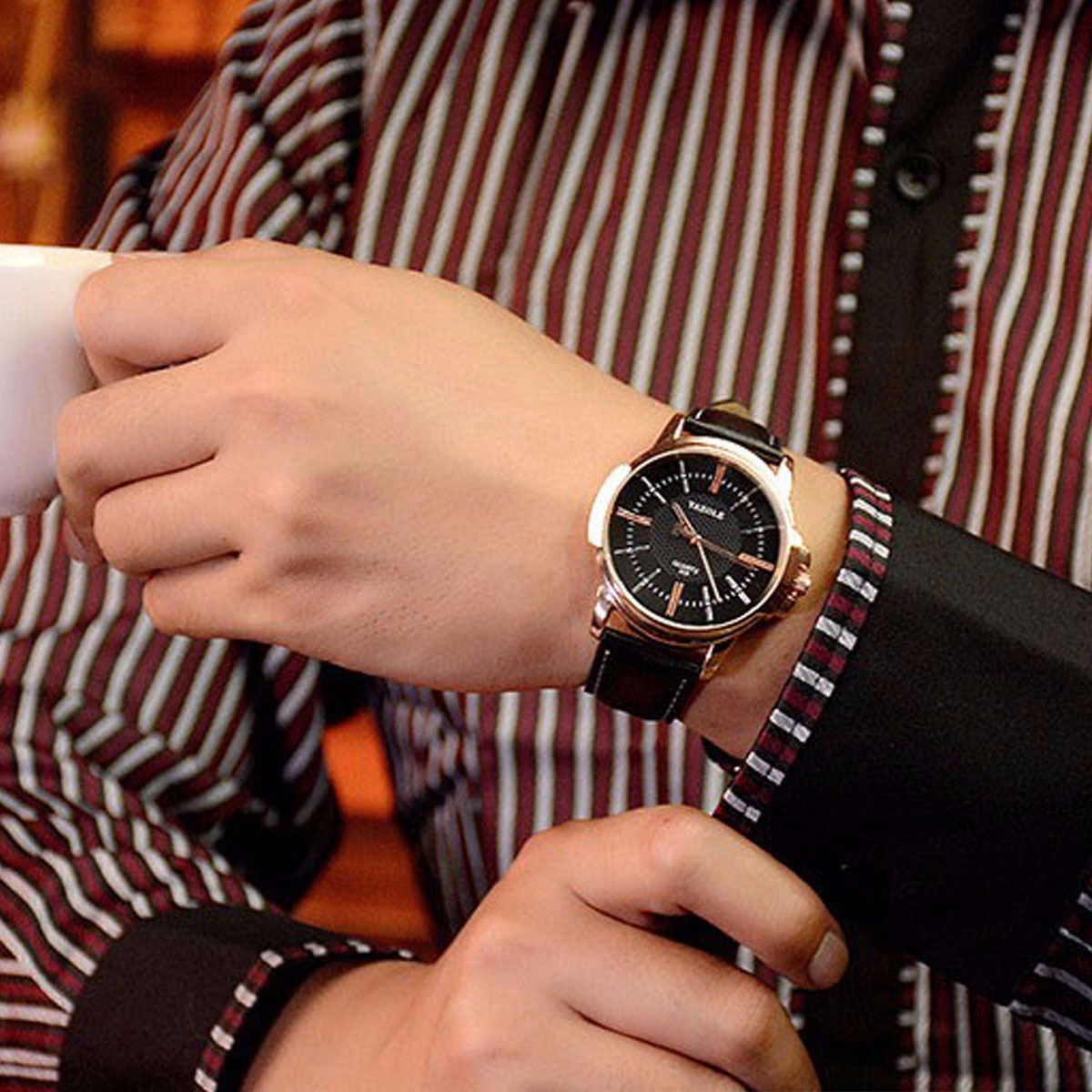 b629a9e39 relógios luxo masculinos barato yazole n4 menor preço. Carregando zoom.