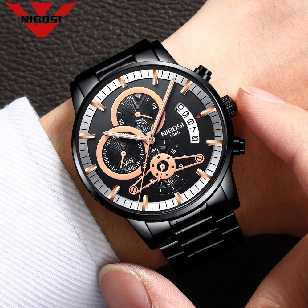 5fb127931f8 Carregando zoom... nibosi relogio masculino homens relógios top marca de  luxo