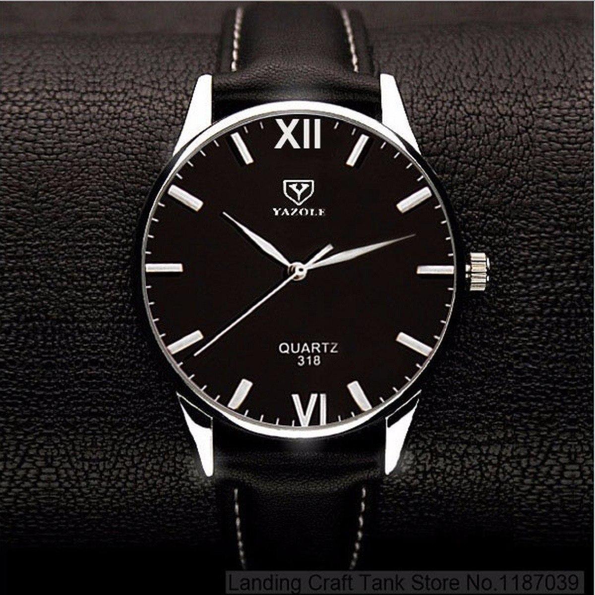 43515f21295 Relógios Masculino Luxo Preto Marrom Barato Yazole Nt Bonito - R  47 ...