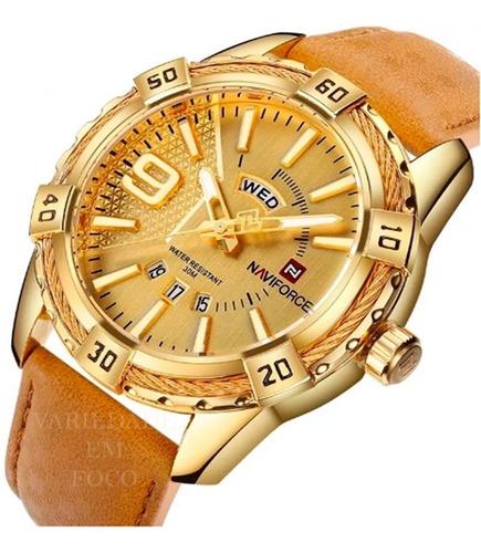 relógios masculino naviforce  resistente a água