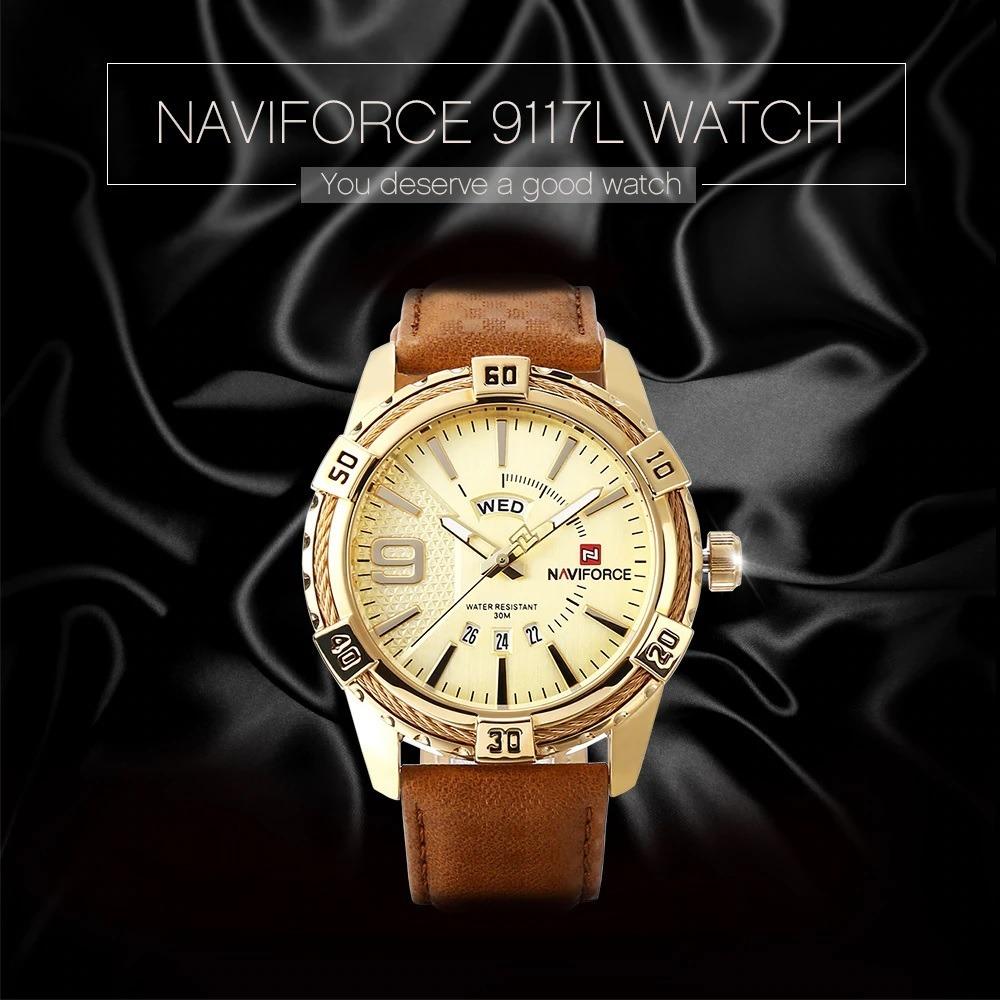 1d977ac8a69 Relógios Masculino Naviforce Resistente A Água Calendário - R  180 ...