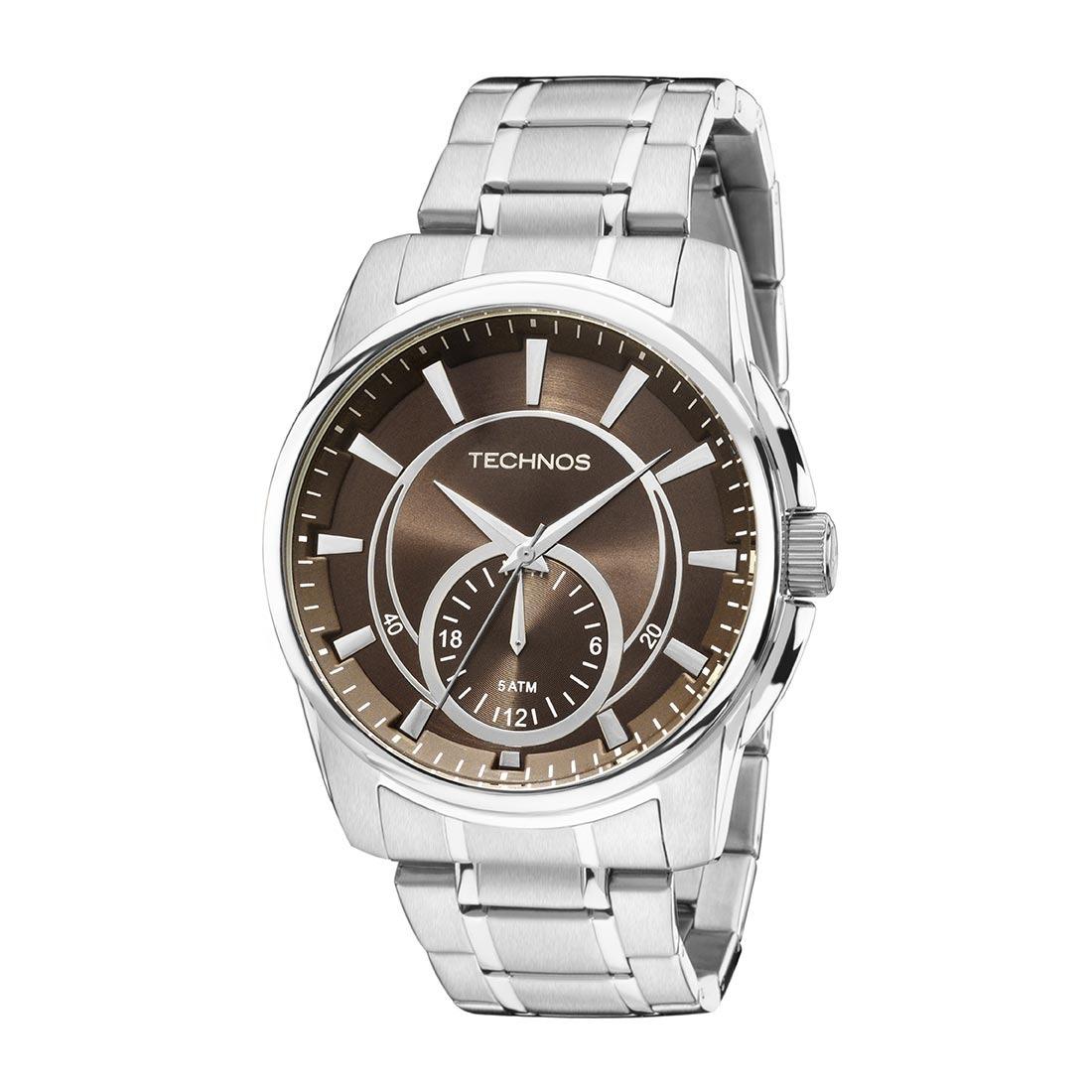 34c25f3cd11 Relógios Masculino Technos Analogico Aço - 6p28ab 1m - R  290