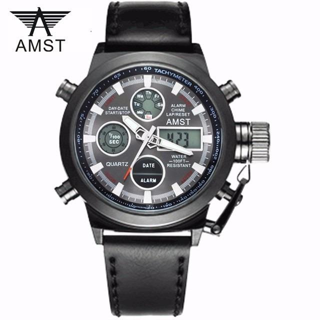 54e5e6ab9e0 Relógios Masculinos Amst 3003 Militar Esportivo Promoção - R  89