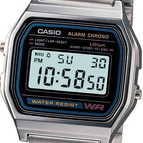fe1010f618f Relógios Masculinos Casio Digital Esportivo A158wa-1df - R  129