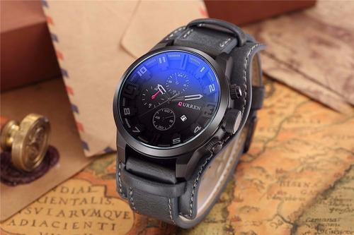 relógios masculinos couro curren
