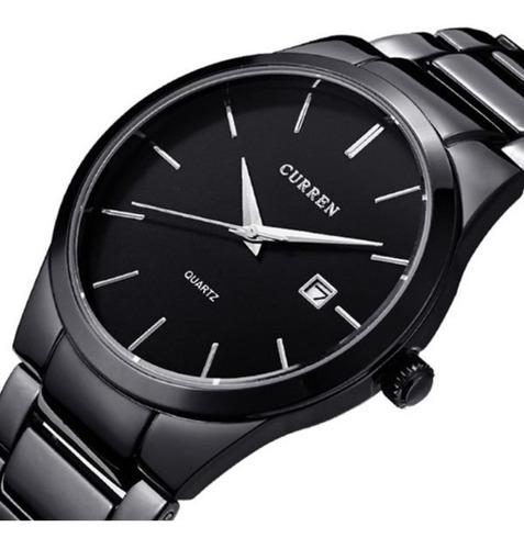 relógios masculinos curren 8106 preto original social esport