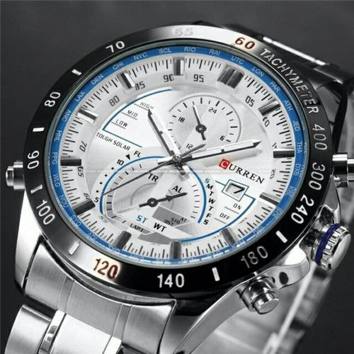 relógios masculinos curren homens moda relógios homens marca