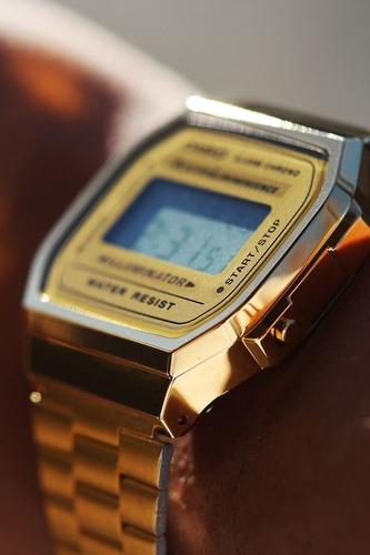 relogios masculinos digital casio dourado vintage