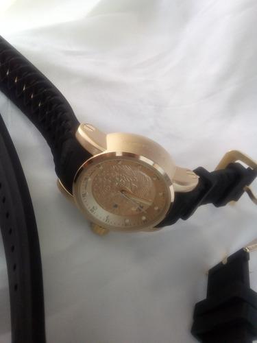 relógios masculinos dourado pesado caixa grande+frete.