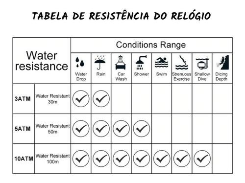 relogios masculinos esportivo 50m resistente água 1155