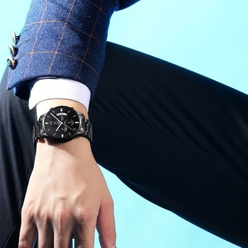 relogios masculinos nibosi luxo original 100% blindado