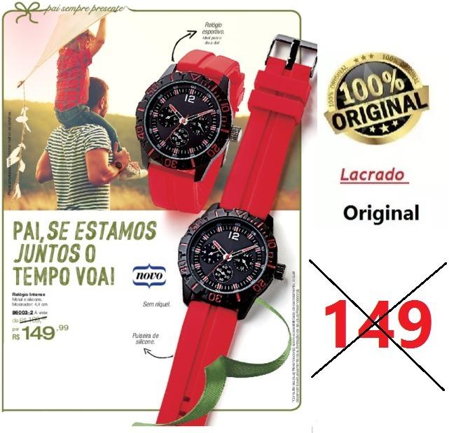 22ea8bc2ca5 Relogios Masculinos Original Intense Esportivo Avon Era 149 - R  45 ...
