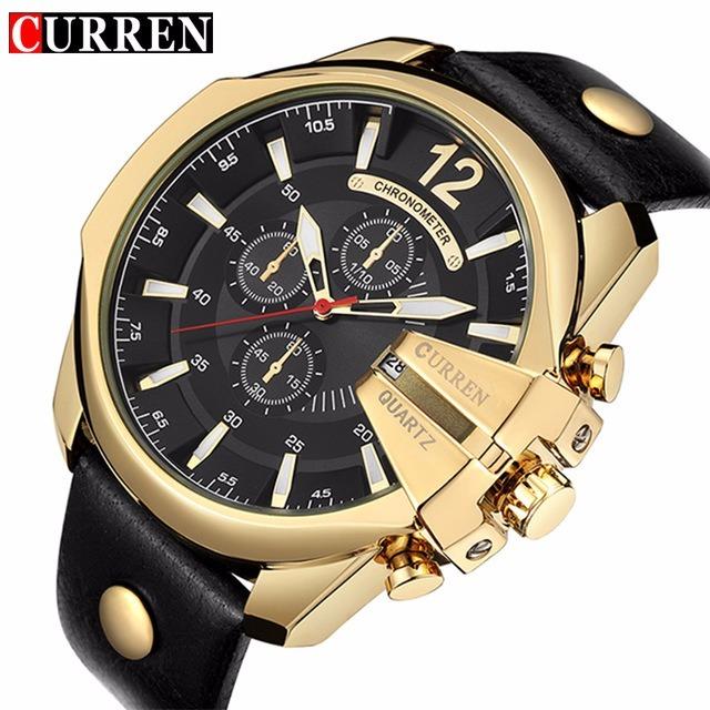 c5c707c96c1 Relógios Masculinos Quartzo Luxo Curren 8176 Original Barato - R  1.120