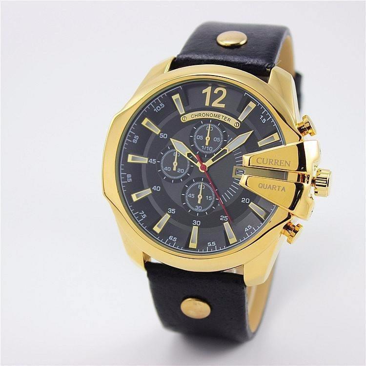 b0f4e09c491 Relógios Masculinos Quartzo Luxo Curren 8176 Original Barato - R ...