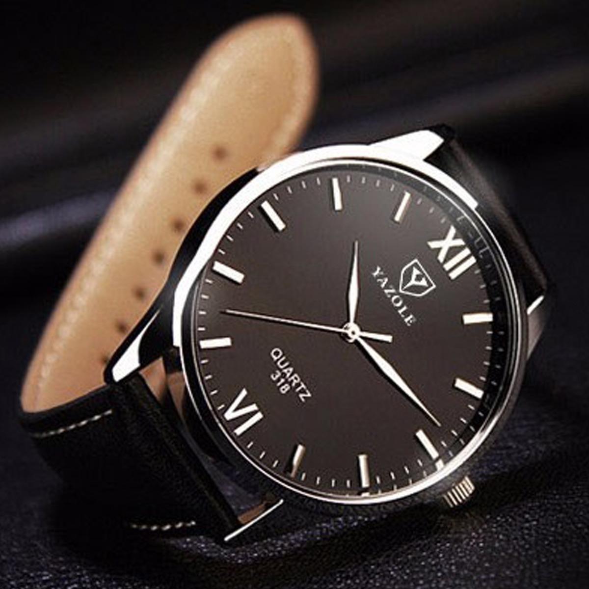 1cec4f9fa85 relógios masculinos social pulso yazole couro luxo barato n2. Carregando  zoom.