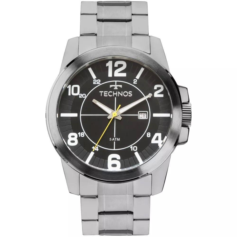 ec15bfd608d relógios masculinos technos 2115mgp 1p pulseira de aço c  nf. Carregando  zoom.